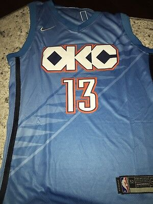 04f314c5f269 Paul George Oklahoma Thunder Nike City Edition Swingman Jersey 2018 2019
