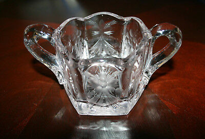 Antique > Pressed And Etched Crystal Glass > Open Sugar Bowl > Pre-1912