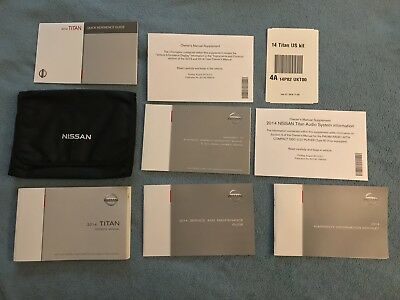 2014 Nissan Titan Owners Manual Set + Nissan Case-Fast Free Shipping!