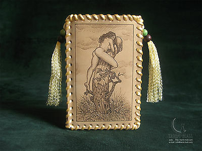 """Decameron"" - leather Tarot bag"
