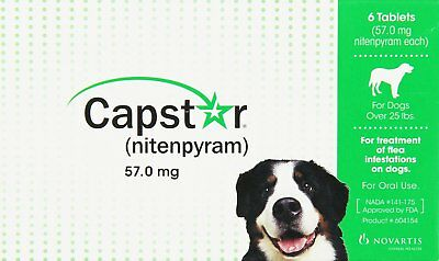 Capstar Oral Flea & Tick Treatment for Dogs over 25 pounds 6 tablets