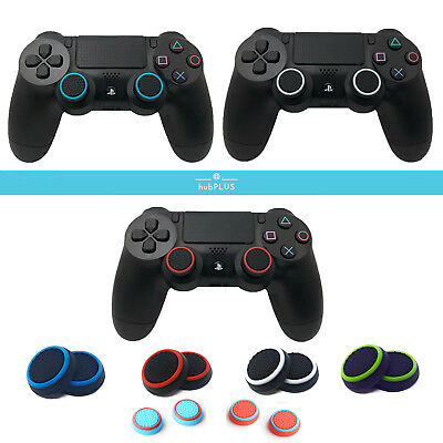 1x Pair of Controller Thumb Stick Analog Grips Dotted for Sony PS4/PS3 Free Post