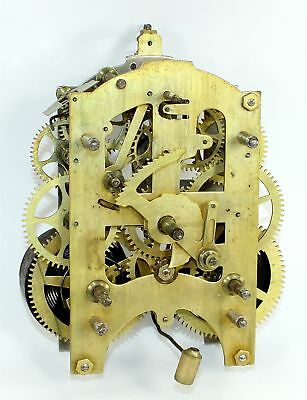 Gilbert 8 Day Clock Time & Strike Movement - For Parts Or Repair - Sp206