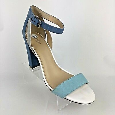 b7adf283139e Botkier womens Gianna color block Blue white shoes Size 10 M Heels MSRP  128