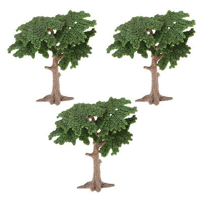 10cm Plastic Model Tree House Living Room Green Landscape Scenery Dioramas