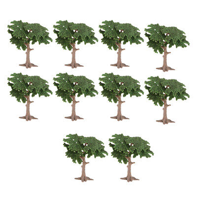 10pcs Plastic Model Tree House Living Room Green Landscape Scenery Dioramas