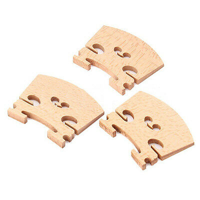 3PCS 4/4 Full Size Violin / Fiddle Bridge Maple In CA