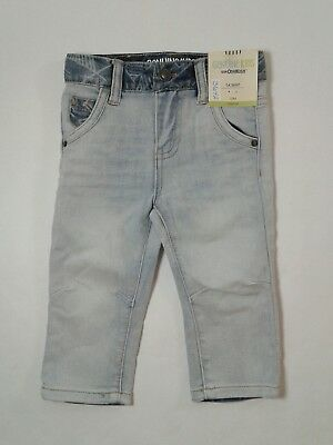 Genuine Kids Boys Skinny Stretch Jeans Light Blue Toddler Size 12 Months (3642)
