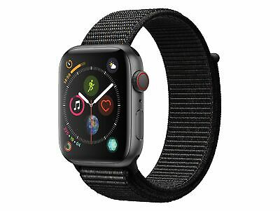 Apple Watch Series 4, GPS & Cellular, 44 mm Alu. space grau, Sport Loop schwarz