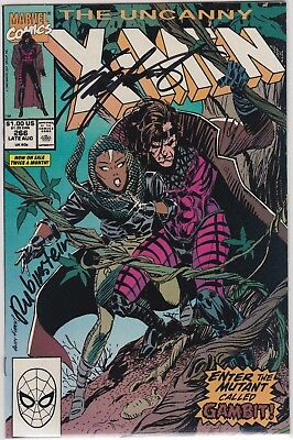Uncanny X-Men 266 1st Gambit VF-NM 2x Signed by Chris Claremont & Joe Rubinstein