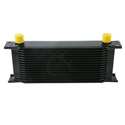 Black Universal 16 Row An-10An Engine Transmission Racing Oil Cooler British New