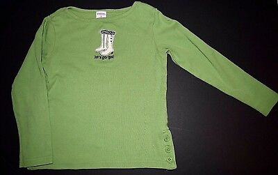 Euc Gymboree Mod Zebra Girls Let's Go-Go Green Shirt Top Size 5