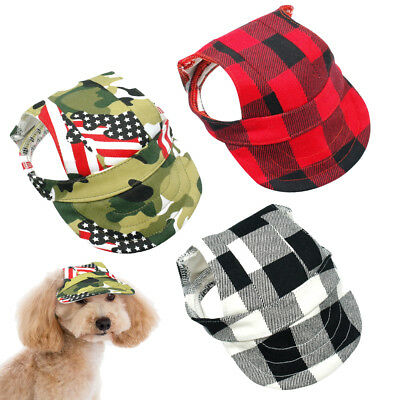 Dog Sun Hat Canvas Summer Baseball Cap Small Pet Cat Visor Outdoor Accessory S-L