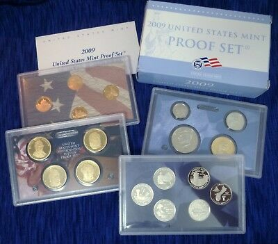 2009 US Mint 18-Coin Proof Set ~ w/ Lincoln Bicentennial & Presidential Dollars