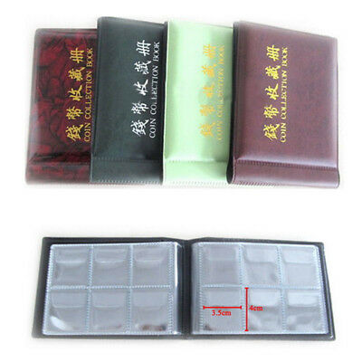 60 Slots Coin Penny Collecting Holder Pockets Storage Folder Album Book Sleeves