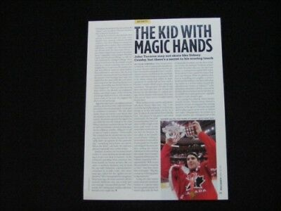 JOHN TAVARES magazine clipping article from 2009 The Kid with Magic Hands
