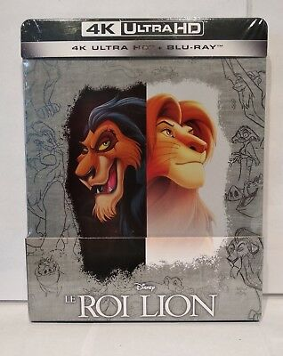 Le Roi Lion Steelbook Blu-ray Bluray 4K Ultra HD. Neuf sous blister