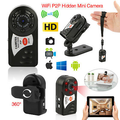 Mini Portable P2P WiFi IP Camera Indoor/Outdoor HD DV Hidden Spy Remote Camera #