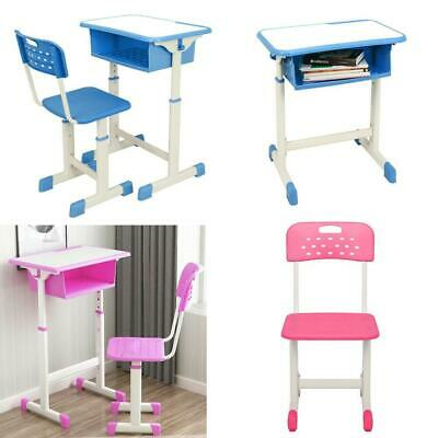 Hot Style 2 Colors Student Desk And Chair Set Child Study Adjustable Table  NEW