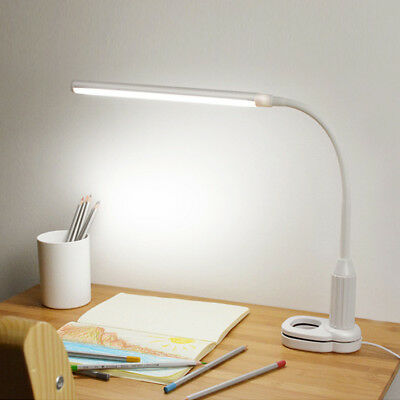 Dimmable Flexible USB Clip-On Desk 24 LED Table Reading Mini Book Lamp 5W Light