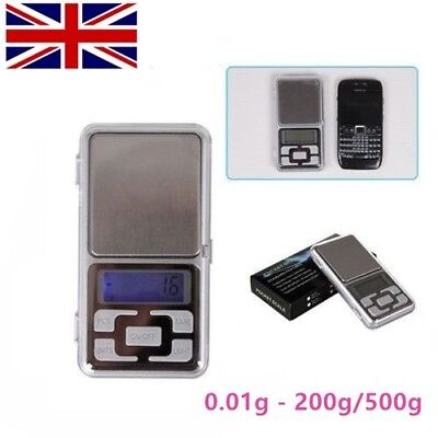 Mini Digital Electronic Pocket Gold Jewellery Weighing Scales 0.01g to 200g 500g