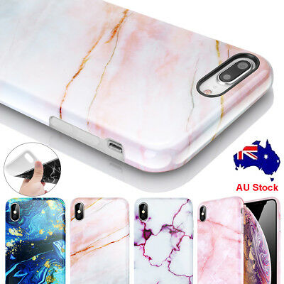 Marble Pattern Case For iPhone XS Max XR X 7 8 Plus Soft Rubber Shockproof Cover
