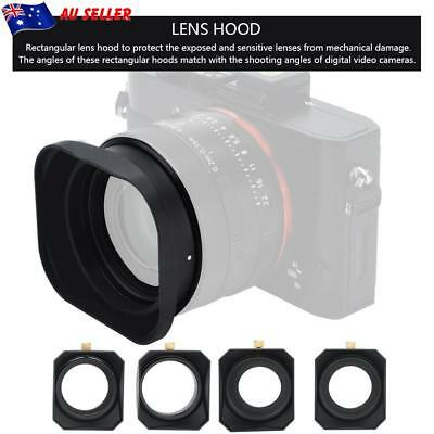 43mm/52mm Camera Square Lens Hood Shade for DV Camcorder Digital Video Cameras