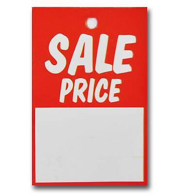 Sale Price Card Clothing Promotional Tags 75 mm x 50 mm (Pack Of 100)