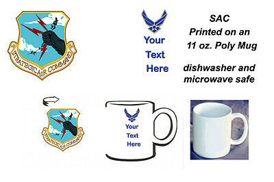 Personalized USAF SAC (Strategic Air Command) 11 oz. Poly Mug (new)