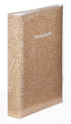 Large Gold Glitter Bling Memo Slip In Photo Album Holds 300 6 x 4 Photos/10x15cm