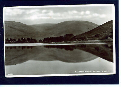 RP Postcard Natures Mirror , St Mary's Loch, Selkirk, Scotland