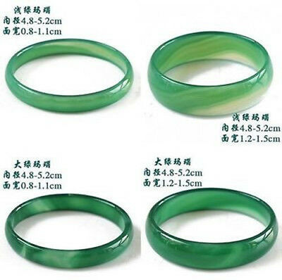 Natural Beautiful Agate Jade Bangle Bracelet Hand-Carved For Baby Child Green