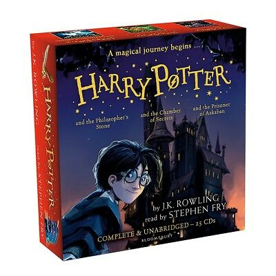Harry Potter Books Audio Collection J K Rowling by Stephen Fry 25 CDs - New