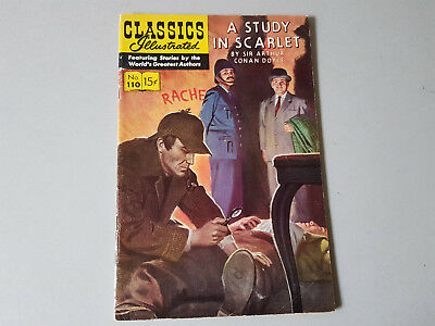 CLASSICS ILLUSTRATED No. 110 A Study in Scarlet - 15c - HRN 165