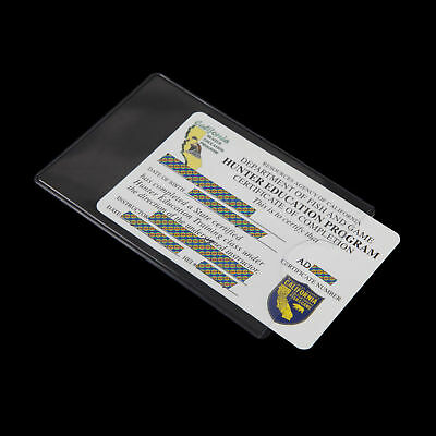 6Pcs Social Security Card-ID-Licence-Photo Protector Clear Cover (Clear)
