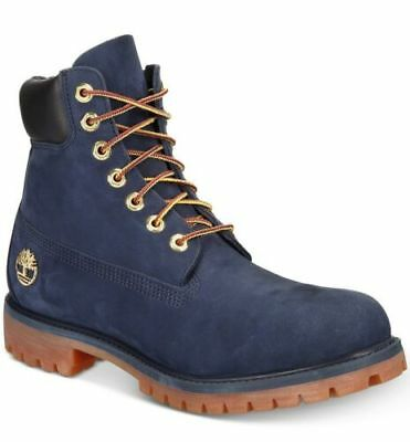 A1B8P} MEN'S TIMBERLAND Authentic 6 Inch Boot Navy Blue