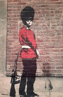 "NAUGHTY SOLDIER GUARD BANKSY BANKSEY 7x5"" PICTURE PRINT WALL ART"