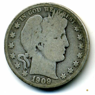 1909 S Barber Half Dollar Key Date Silver 50 Cent HALFDOLLAR Coin US 50CENT#211