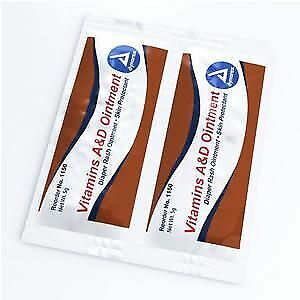 Vitamin A and D Ointment, 5g Packet, 144 Count #1150 BRAND  2 PACK