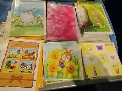 EASTER - Easter greetings cards - Job Lot of 50  (All individually wrapped)