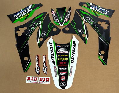 Team Graphics Backgrounds Decals For Kawasaki KX450F KXF450 2006 2007 2008 D2