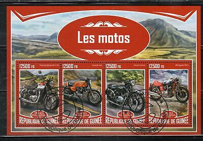 Republic Guinee Guinea Motorcycles  Africa Stamps Sheet   Used    Lot  37230