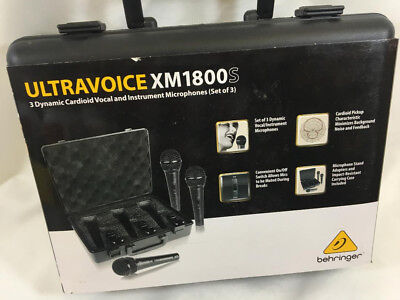 BEHRINGER ULTRAVOICE XM1800S 3 Dynamic Cardoid Vocal and Instrumental MIcs