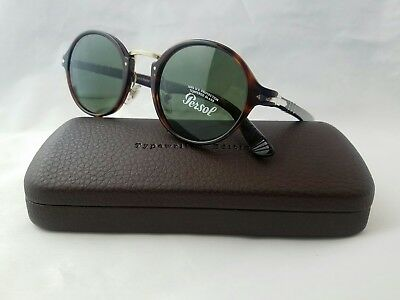 36df01d0cfa23 Persol 3129-S 24 31 Havana Gold Frame Green Lens Sunglasses Hand Made In