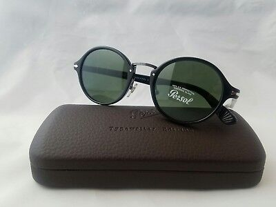 78ae523716390 PERSOL 3111-S 95 31 Glossblack Green Lens Sunglass Made In Italy ...