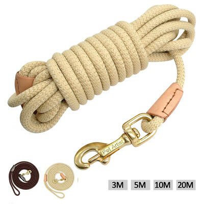 Long Dog & Horse Training/Tracking/Lunge/Rein Leads Recall Obedience Rope Leash