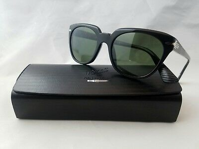 06a7cc88b5529 PERSOL 3111-S 95 31 Glossblack Green Lens Sunglass Made In Italy