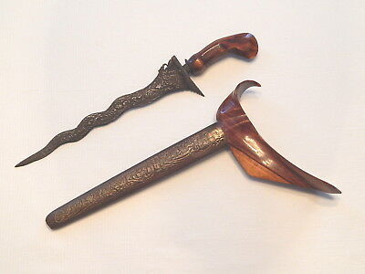 Antiques Lovely Antique Tombak Indonesia Dagger
