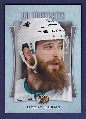 Brent Burns *Oversized* 2016-17 Upper Deck Series 1 Hockey UD Portraits #P42