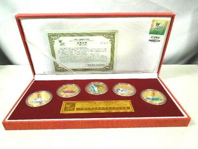 2010 Shanghai China Expo Axis & Four Pavilions Commemorative Medallion Set